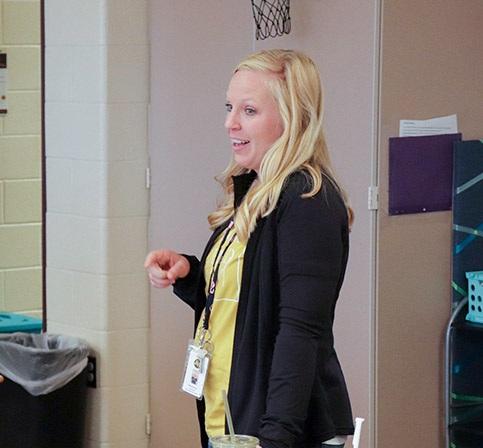 teacher instructing students