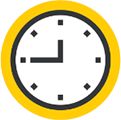 Icon of a clockface